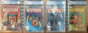 WOLVERINE Limited Series #1-4 1, 2, 3, 4 All CGC 9.6 White Pages! Miller Set!