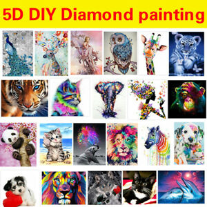 5D Full Drill Diamond Painting Kits Embroidery Cross Stitch Cartoon Animal Gift