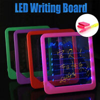 Acrylic LED Board Pen Light Up Drawing Writing Special Puzzle Education Toy Gift