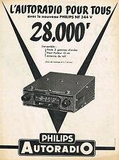 PUBLICITE ADVERTISING 104  1957  PHILIPS   auto-radio  NF 344 V