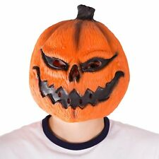 Adult Funny Realistic Scary Latex Pumpkin Full Head Mask Costume Halloween Party