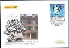 BRD 2020: Ludwig van Beethoven! Post-FDC der selbstklebenden Nr. 3520! 20-03
