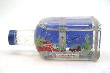 California Fishing Boat Vintage Souvenir Bottle Travel Tourism Snow Globe Dome