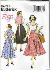 Butterick Pattern 6212 Retro Back Wrap Dress Rockabilly 1952 Sz 14 - 20 UC