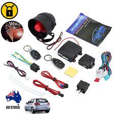 Car Security System Alarm Immobiliser Central Locking Shock Sensor 2 Remote AU