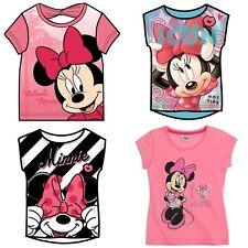 Girls Children Child Disney Minnie Mouse T-Shirt Top age 2-10 years