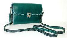 Neu ❤️schicke Leder Handtasche Cluch Schultertasche * Tannen grün ❤️