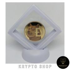 Dogecoin Gold Krypto Münze mit weißen Display NEU