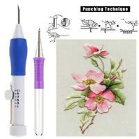 Embroidery Needle Pen Kit Set Craft Tool Thread Punch Magic DIY Knitting Tool