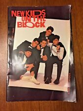 """Vintage 1989 ~ New Kids On The Block 8 Poster Book ~ 16.5"""" x 11.5"""" ~ Good"""