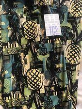 Lularoe TC2 Tall Curvy Legging Blue Yellow Hawaiian Pineapples 🍍 Unicorn 🦄 New