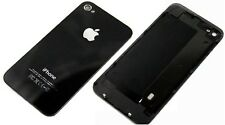 Black Glass Replacement Back for Apple iPhone 4S, free tool and screws (Black)