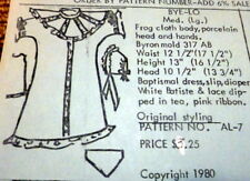 """GREAT VTG 13"""" """"BYE-LO""""  DOLL CLOTHING SEWING PATTERN Anna Lou's"""