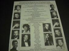 Celine Dion Whitney Houston Smokey Robinson Michael Bolton 1987 Promo Poster Ad