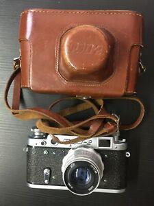 FED-2 Vintage Rangefinder SLR Film Camera w/Industar 26M 52mm f/2.8 M39 Lens