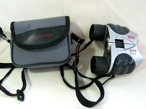 Praktica Sport Compact Zoom Binoculars. 8-30 x 21. Coated Optics. Soft Case