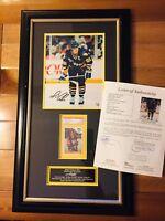 Mario Lemieux Signed Autograph Photo Framed W/ Rookie Card JSA And PSA Authentic
