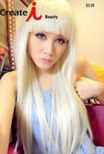 New LADY GAGA Fashion Blonde Straight Cosplay Women Wig D51S