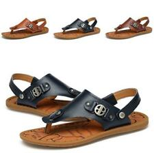 Mens Clip Toe Thong Slingback Sandals Shoes Flats Slip on Slippers Straps Beach