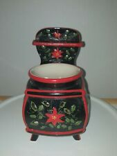 Old Fashioned Stove Teapot Oil Warmer Ceramic Tealight Candle