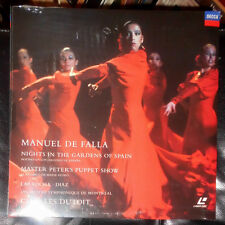 LASERDISC LD FALLA NIGHTS IN THE GARDENS OF SPAIN DUTOIT (PAL) VERSIEGELT SEALED