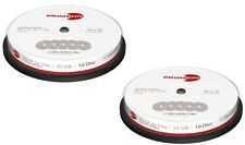 20 Primeon 2761307 NON Printable Blank BluRay BDR SL Discs 25GB 2x - 10x Ultra