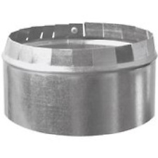"""6"""" Imperial Duct to Pipe Round Starting Collar 30 Ga Galvanized GV0843-A Stove"""