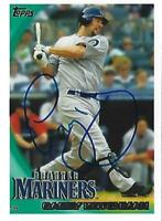 Casey Kotchman Signed 2010 Topps Baseball Card #634 Autograph Mariners Indians