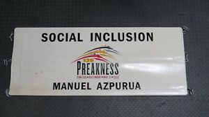 2014 Preakness Stakes Social Inclusion Race Used Worn Stall Webbing! Pimlico