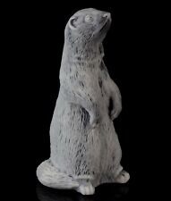 "Polecat Ferret Marble Figurine Russian Art Stone Sculpture Animal Statue 3 3/4"""