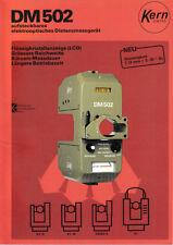 Kern DM502 - elektrooptisches Distanzmessgerät - Prospekt- Kern & Co Aarau Swiss