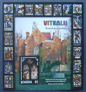 Romania-2011,Stained Glass Windows, 1 S/Sh. MNH, RO479