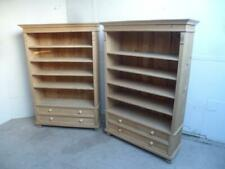A Superb Pair of  Antique/Old Pine 2 Drawer Book/Office Shelves to Wax/Paint