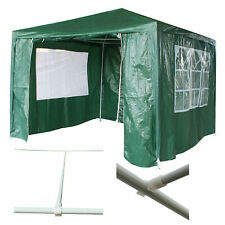 3x3m STEEL TUBE Waterproof Outdoor PE Garden Gazebo Marquee Canopy Party Tent O