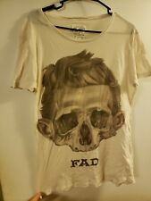 Allsaints Spittalfields FAD T-shirt/ with Skull - Medium, Luxury Rockstar