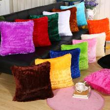 Home Decor Sofa Car Seat Fur Plush Throw Pillow Cases Cushion Cover Winter Warm