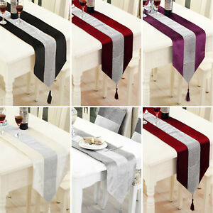 "72"" Diamante Velvet Table Runner + Dining Placemats Table Place Mats Decor"