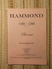 Hammond Phoenix 1100 Organ Owners Manual (COPY)