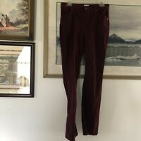 Chicos Sz 0 Dark Red Corduroy Bootcut Pants A2012