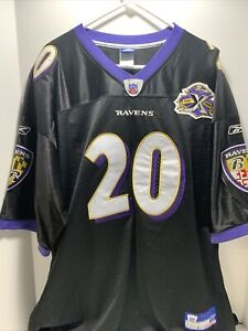 NFL Football Baltimore Ravens 10th Anniversary 2005 Ed Reed Jersey #20 Size 56
