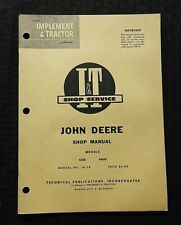 1960 JOHN DEERE 435D 440ID TRACTOR I&T SERVICE SHOP REPAIR MANUAL