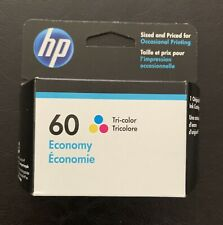 Genuine HP 60 Tri-Color Ink Cartridge (Economy)EXP 05/2022