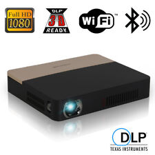 Android Wifi DLP Home Theater Projector Bluetooth Movie Presentation HDMI USB US