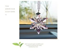2018 New Crystal Light Pink Snowflake ornament Charm Pendant Gift Party Decor