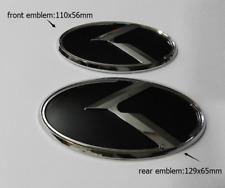2pcs 3D Black/Chrome K emblem badge fit KIA OPTIMA K5 2011-2015