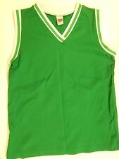 "NOS Vtg '80's Mason Basketball Jersey Large 35""-36"" Chest Green White"