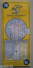 carte MICHELIN 78 BORDEAUX - BIARRITZ 1961