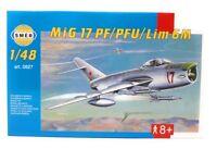 Modellbau Modellbausatz SMER Militär 1:48 Flugzeug MiG 17 PF-PFU Lim 6 M