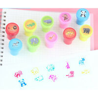 10Pc animal Self-ink Stamps Goody Bag Pinata Fillers Kids Birthday Party Favor3C