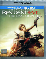 Resident Evil:The Final Chapter (Blu-ray 3D + 2D) Milla Jovovich  / Region A *